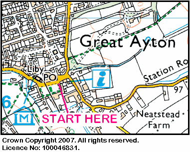 Map of the Great Ayton area