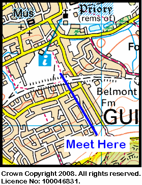 Map of the Guisborough Rugby Club area