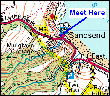 Map of the Sandsend area