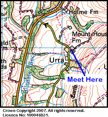 Map of the Urra area