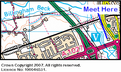 Map of the Billingham Beck area