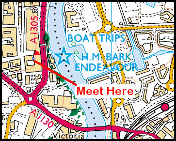 Map of Stockton Riverside area