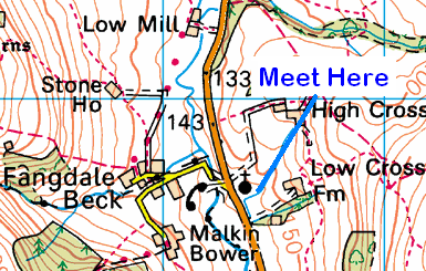 Map of Fangdale Beck Area