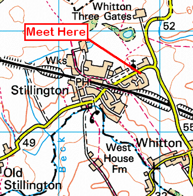 Map of the Stillington area