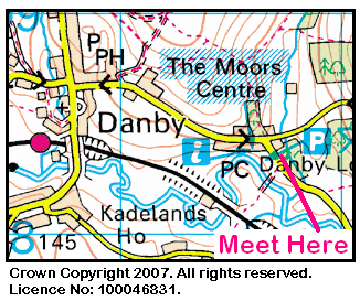 Map of Moors Centre area