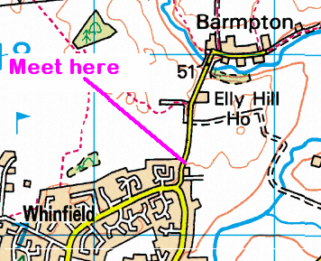 Map of Barmpton Lane area in Darlington