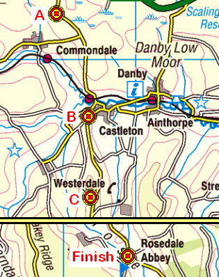 Map of the Brown Hill to Rosedale area