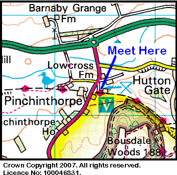 Map of the Pinchinthorpe Visitor centre area