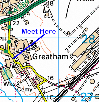 Map of the Greatham area