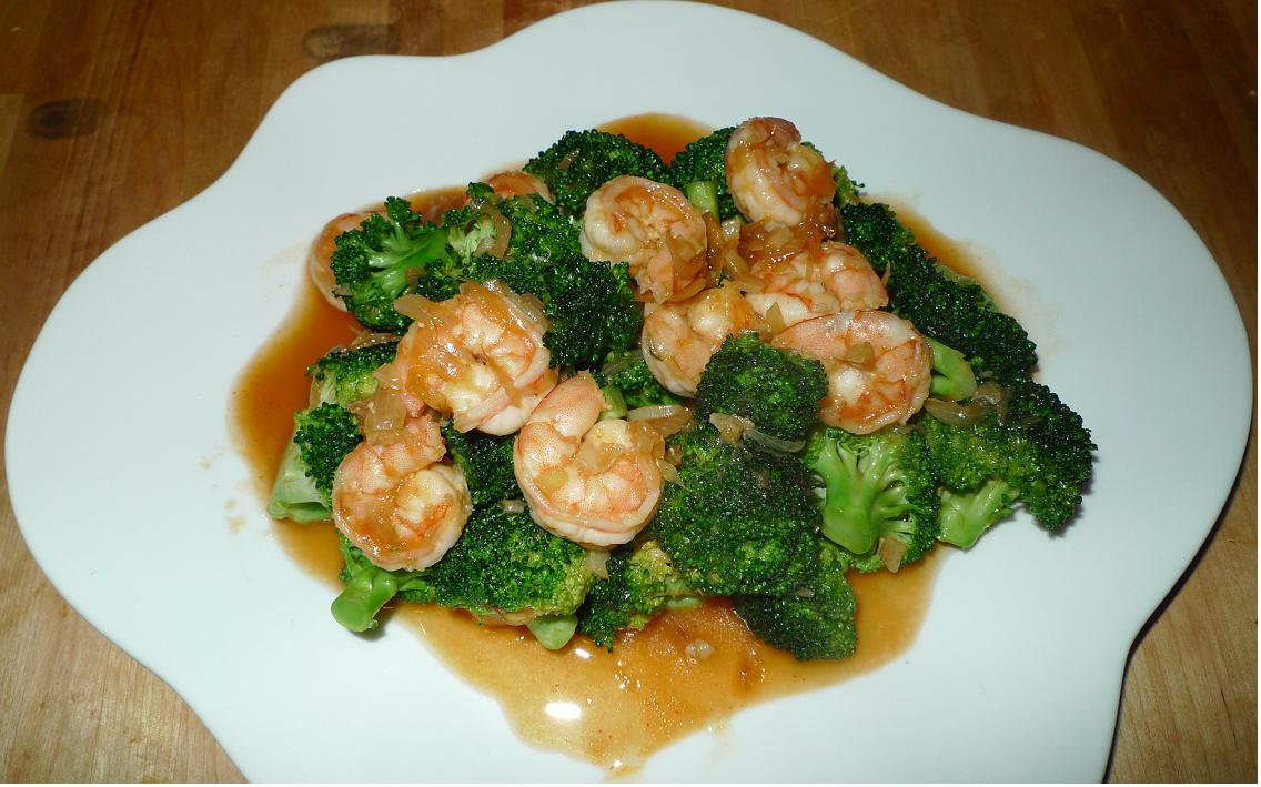... shrimp or phad brocoli sai gung in thai i made stir fried shrimp with