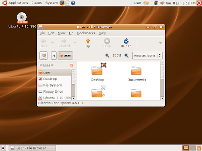 Ubuntu 7.10 (Gutsy Gibbon)