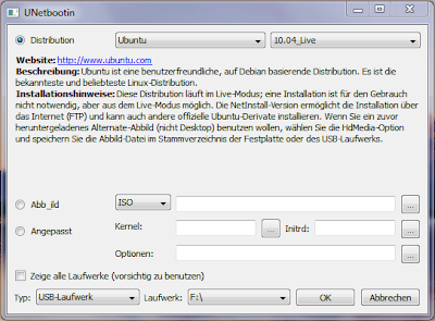 UNetBootin for Windows, Linux