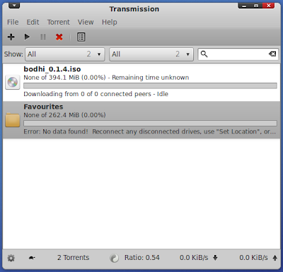 Transmission Bit Torrent Client