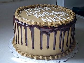 Today We Made A Delicious Three Layer Mocha Cake Filled With Vanilla Buttercream Frosting It Was For Young Man Named Nick Turning 25 Years Old So I