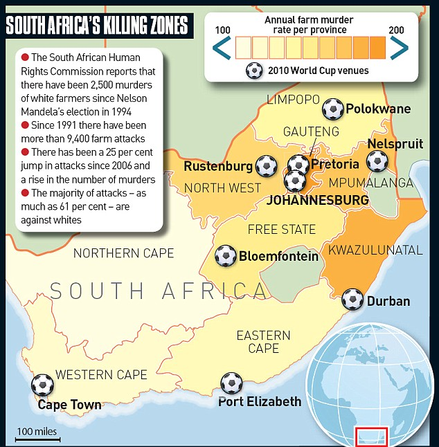 South Africa's Farm Killing Zones