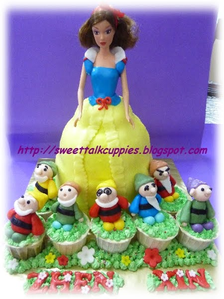 snow white cake images. Snow White amp; her 7 dwarfs