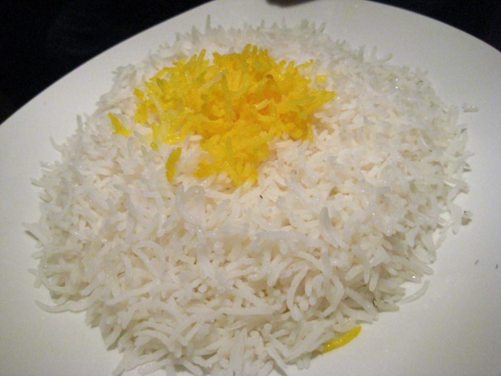 Fluffy saffron basmati rice. It sho is!)