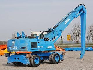 2 708362 Excavatoare Industriale Manevrare Materiale Terex Fuchs MHL 350 second hand 33tone 16m 2003 90.000 Euro