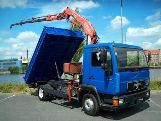 5 747491 Camion Basculanta cu macara second hand de vanzare MAN 8.163 1997 21.000 Euro