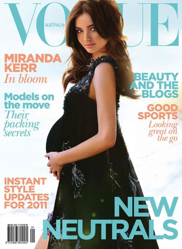 miranda kerr pregnant pictures. Miranda Kerr covers Vogue