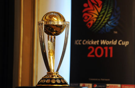 ICC Cricket World Cup Trophy 2011. World Cup Trophy 2011