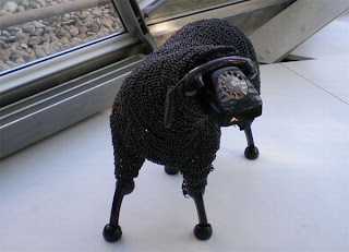 Telephone Sheep Sculptures photo