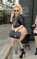 Lady Gaga out at the pub in London