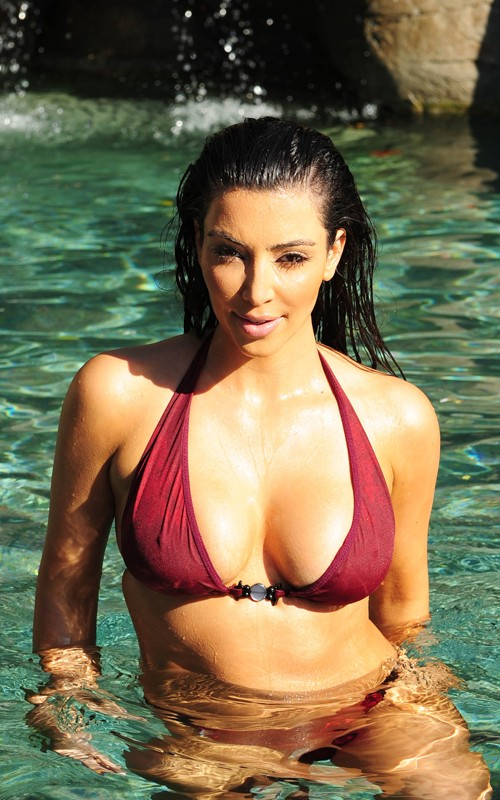 Kim Kardashian Celebrating 30th Birthday Bikini Tribute
