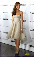 Jessica Biel and Eva Mendes Glamour Reel Moments Event Pics