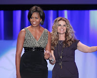 Michelle Obama and Maria Shriver at the Maria Shriver Women's Conference 2010