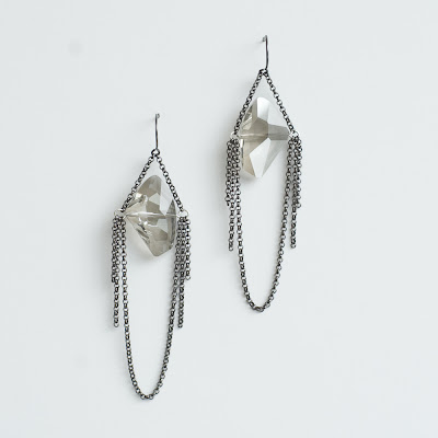 jewelry,shopping,online,earrings,gunmetal,grayling,moon,crystals,rocker