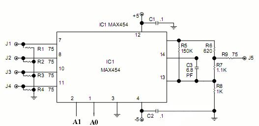 video switch circuit schematic diagram zona elektronikaimage from only one camera video switcher circuit is needed to display more than one display in one monitor take a look at below circuit schematic