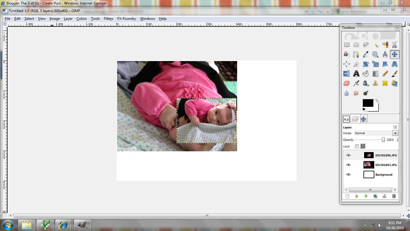 fotomontaje imagen nueva escalar
