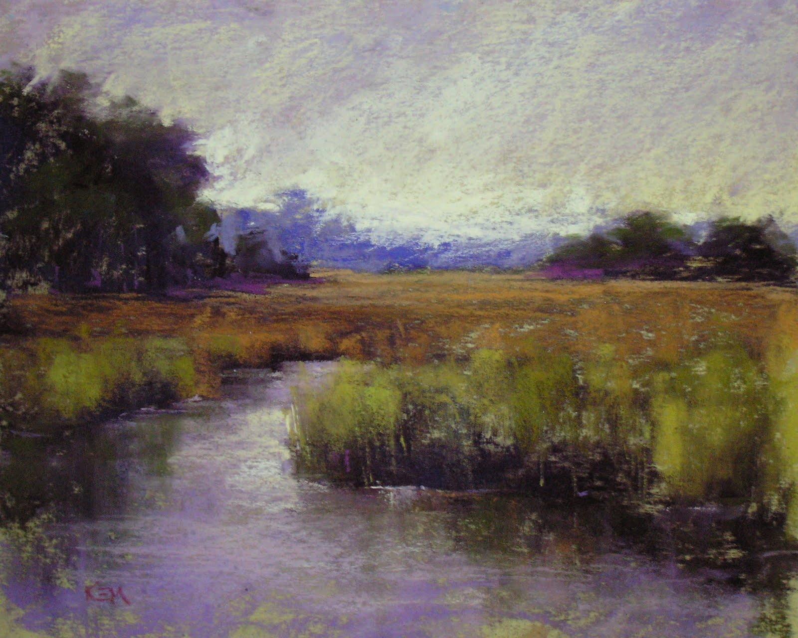 painting my world plein air marsh painting south carolina