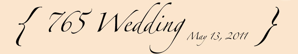765 Wedding