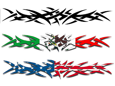 Flag Motif Armband Tattoo Designs