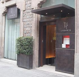 Michelin-starred Lasarte at Hotel Condes, opposite Gaud's La Pedrera