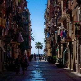 A Barceloneta street scene