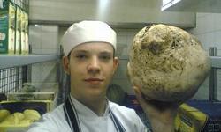 Not a millionaire's truffle, but a puffball mushroom