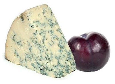 Plum and blue cheese