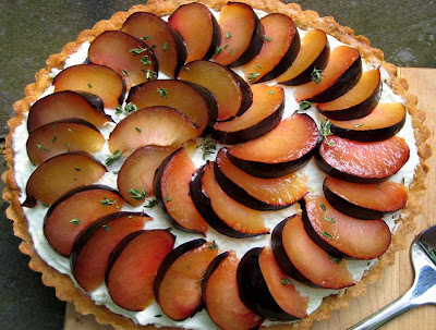 Plum And Blue Cheese Tart