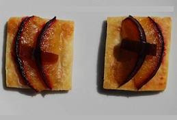 Short Savoury Pastry with Blue Cheese, Plum and Sherry Vinegar and Pedro Ximenez Jellies