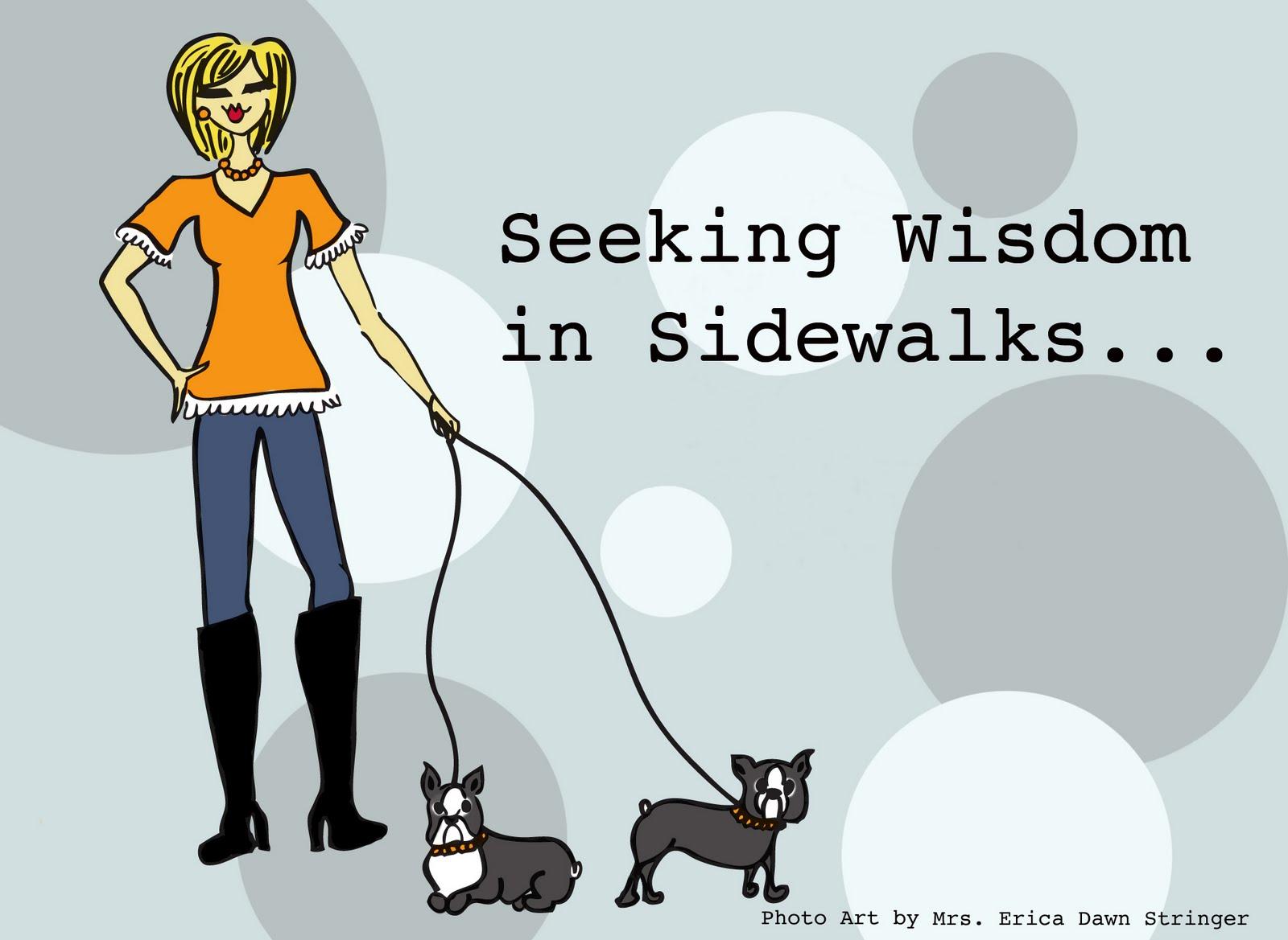 Seeking Wisdom In Sidewalks
