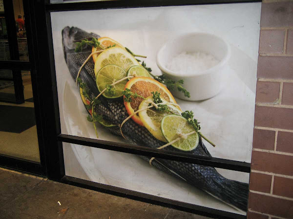 Bound Fish - Outside the Union Square Food Emporium.
