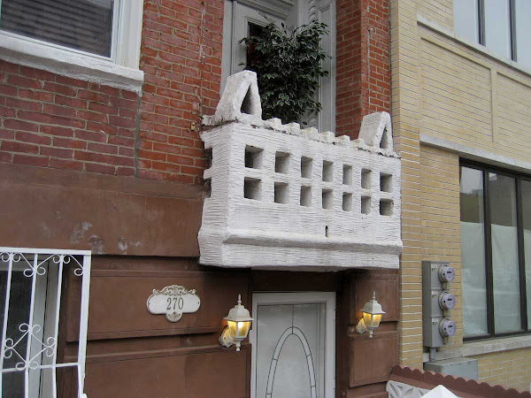 Unique Balcony - Sadly, recently replaced by something generic; on Berry in Williamsburg.