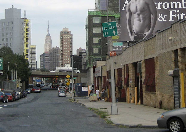 Naked Torso LIC - Naked torso looms over Long Island City near the entrance to the Queens-Midtown Tunnel.