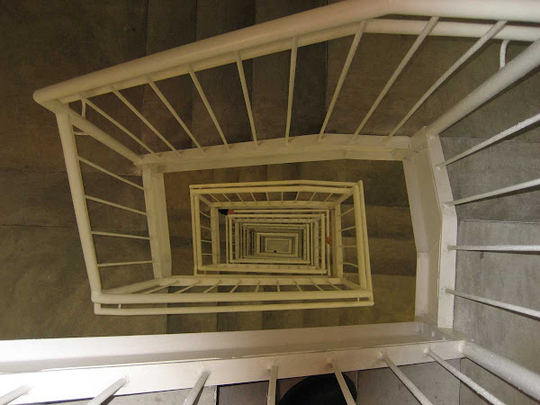 Spiral Stairwell - From the top floor at the New Museum.
