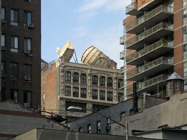 Ears Above 23rd St - Giant antennae on 23rd, seen from up Lexington Ave.
