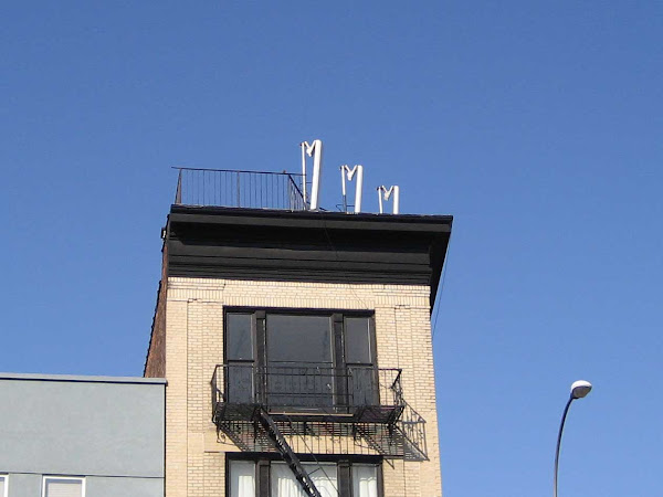 Harps Above Bowery - Communications hardware at Bowery & Delancey that looked like a trio of harps (until sent to hardware heaven).