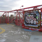 Bright Bridge Plaque - The plaque, near the LES end of the Williamsburg Bridge, must be one of the most tagged spots on earth.